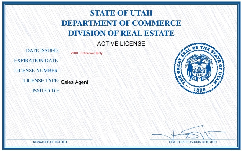 Utah Real Estate License