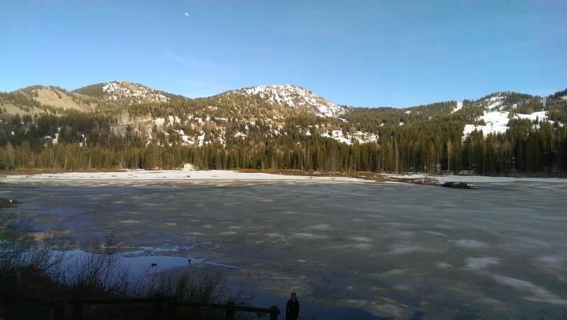 Slushy Silver Lake in Utah